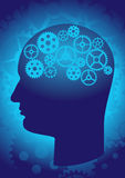 The brain as a gear Royalty Free Stock Photo
