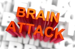 Brain Attack - Medicine Concept. 3D rendering Stock Photography
