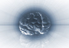 Brain background Stock Images