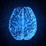 Brain. Background with brain. The concept of thinking. Brain neurons. Abstract technology background. EPS10 vector illustration