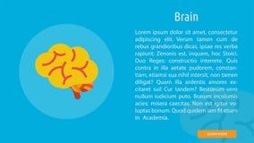 Brain Banner Concept illustration stock