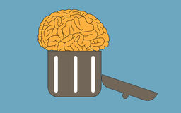 Brain in bin  Stock Photography