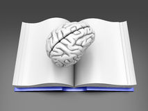 Brain Book. Psycologic / Psychiatric / Neurologic literature. Concept Royalty Free Stock Photos