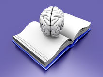 Brain Book Stock Images