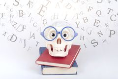 Brain and book Royalty Free Stock Image