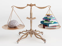Brain and books Royalty Free Stock Photo