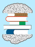 Brain books sandwich Stock Photography
