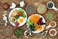 Brain Boosting Healthy Super Food imagem de stock