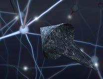 Brain Bot Royalty Free Stock Images
