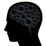 Brain Bubbles Head Image stock