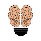Brain and bulb icon. human organ design. Vector graphic Royalty Free Stock Photography