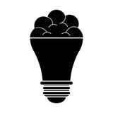 Brain bulb idea innovation creative silhouette Royalty Free Stock Photo
