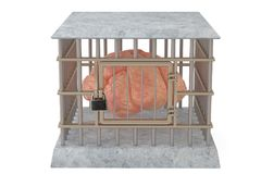 The brain in cage.3D illustration. The brain in cage. 3D illustration Royalty Free Stock Image