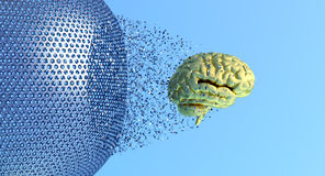 Brain and a cage Royalty Free Stock Image
