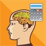 Brain and Calculator Vector Stock Photos
