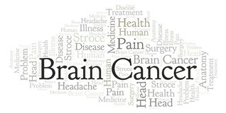 Brain Cancer ordmoln stock illustrationer