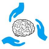 Brain Care Hands Vector Icon vector illustratie