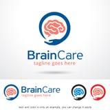 Brain Care Logo Template Design vektor Arkivfoton