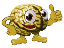Brain cartoon character illustration Royalty Free Stock Images