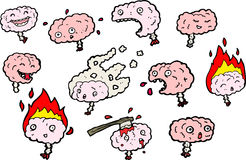 Brain character illustrations Stock Photo