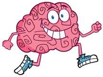 Brain Character Jogging stock illustration