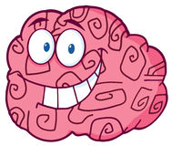 Brain character smiling Royalty Free Stock Image