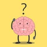 Brain character thinking Royalty Free Stock Image