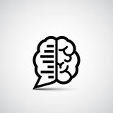 Brain Chat Imagenes de archivo
