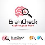 Brain Check Logo Template Design Vector Stock Photography
