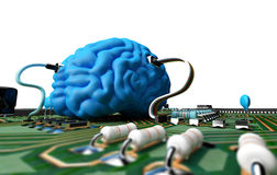 Brain chip Royalty Free Stock Image