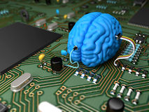 Brain chip Stock Photos