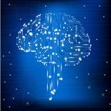 Brain circuit stock illustration
