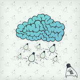 Brain cloud Royalty Free Stock Images