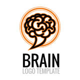 Brain Cloud Logo Template Stock Foto