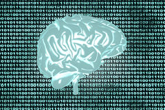 Brain code Royalty Free Stock Photo