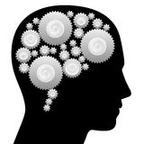 Brain Cog Wheels Thinking Machine Stock Photo