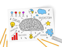 In brain come business of idea Royalty Free Stock Photography