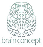 Brain computer circuit design Royalty Free Stock Images