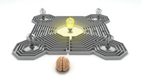 Brain concept is the idea of the search at the entrance  Stock Image