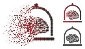 Brain Conservation Icon de intervalo mínimo pontilhado fraturado ilustração royalty free