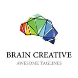 Brain Creative Logo Illustration Design Stock Foto