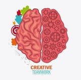 Brain of Creative teamwork concept Stock Photography