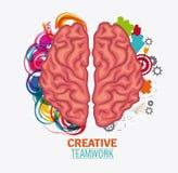 Brain of Creative teamwork concept Royalty Free Stock Image