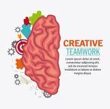 Brain of Creative teamwork concept Stock Photos