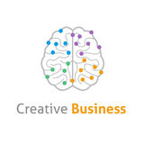 Brain creative vector logo design template Stock Photography