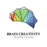 Brain Creativity Logo Illustration Design illustration libre de droits