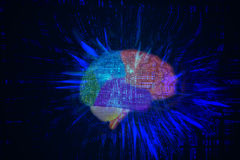 Brain in Cyberspace Stock Images