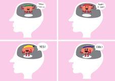 Brain delight inside human head Royalty Free Stock Photography