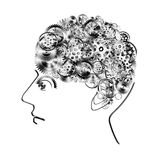 Brain design by cogs and gears Royalty Free Stock Images