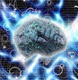 Brain Design elettronico Fotografie Stock